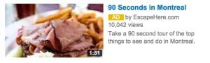 YouTube sponsored placement - Australia Tourism