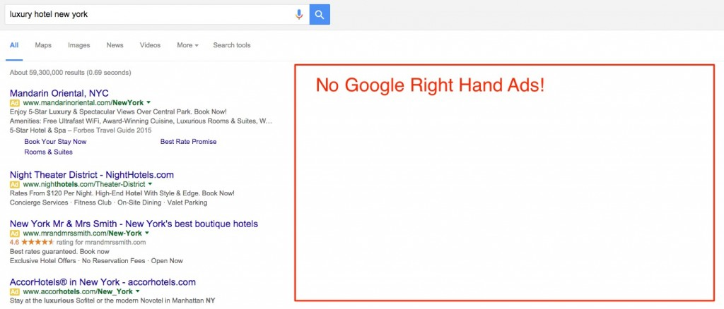 Google AdWords Removes Right Hand Ads
