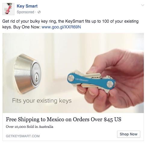 Keysmart Facebook Ad Copy Inconsistent