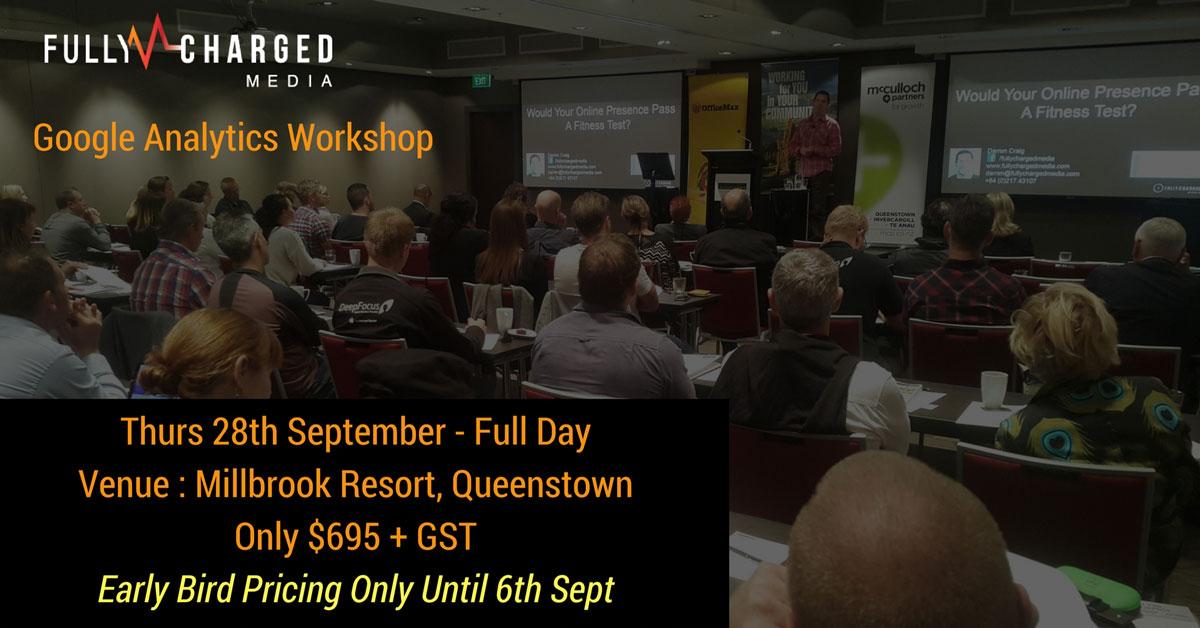 Google Analytics Training Queenstown, New Zealand