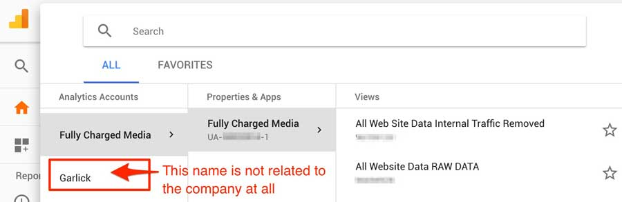 Google Analytics Account Access Agency Owned