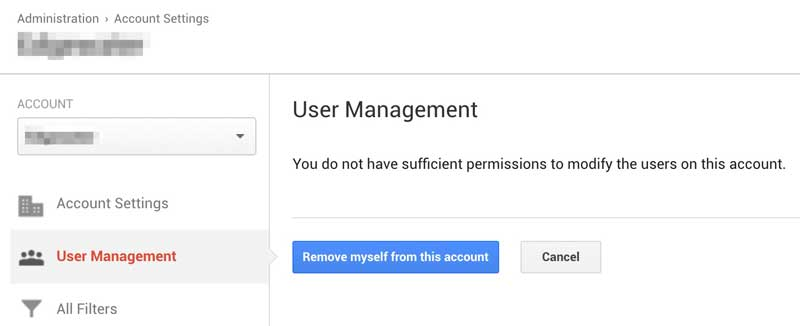 Google Analytics Don't Have Access