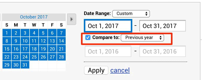 Comparing Date Ranges In Google Analytics